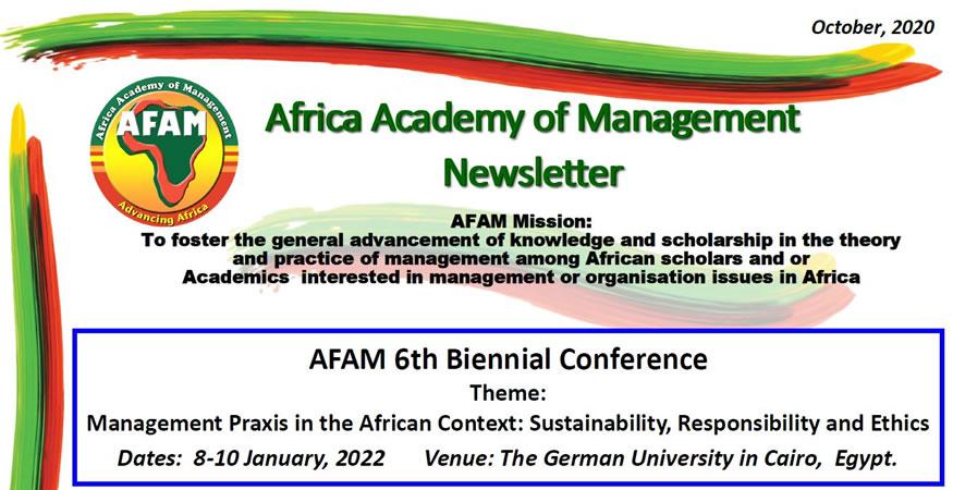 AFAM Newsletter - October 2020