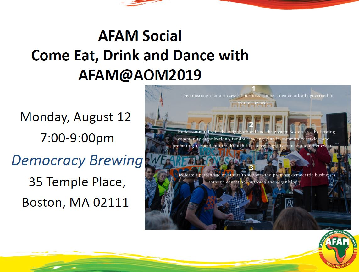 AFAM Social in Boston