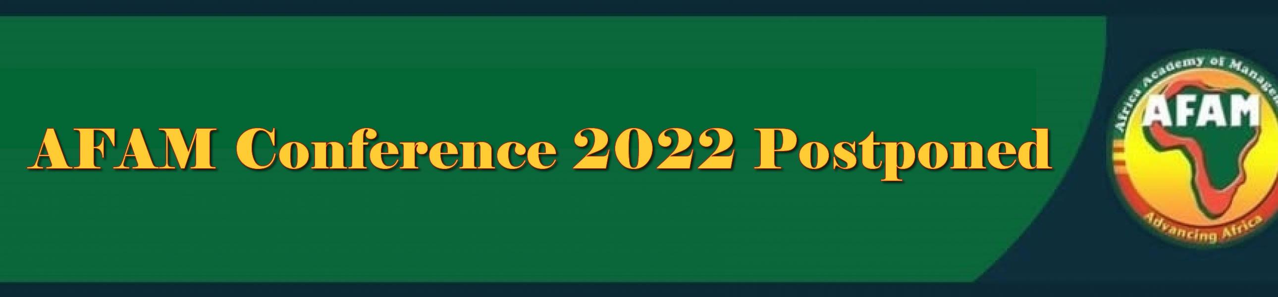 AFAM Biennial Conference 2022 Postponed