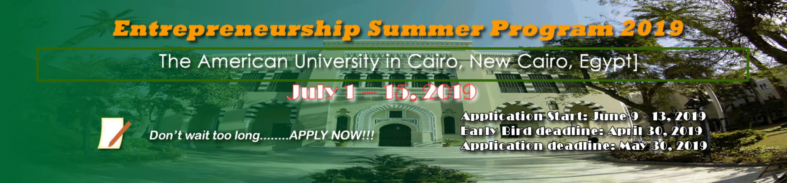 Entrepreneurship Summer Program 2019