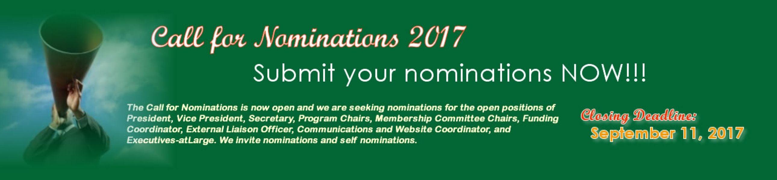 Call for Nominations 2017